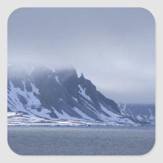 Noruega, Círculo Polar Ártico, Océano Atlántico Pegatina Cuadrada