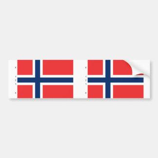 Noruega con proporciones, bandera de Noruega Etiqueta De Parachoque