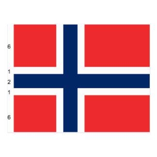 Noruega con proporciones, bandera de Noruega Tarjetas Postales