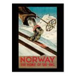 Noruega el hogar del esquí postales