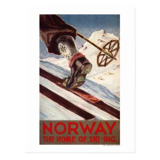 Noruega - el hogar del esquí postales
