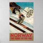Noruega el hogar del esquí posters