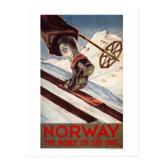 Noruega - el hogar del esquí postal