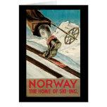 Noruega el hogar del esquí tarjetas