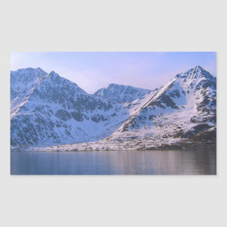 Noruega, entrada a un fiordo rectangular pegatina