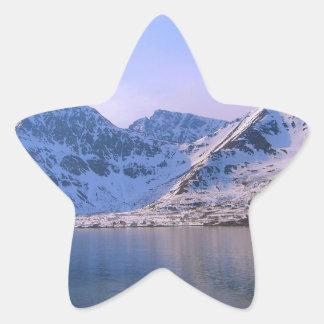 Noruega, entrada a un fiordo pegatina forma de estrella