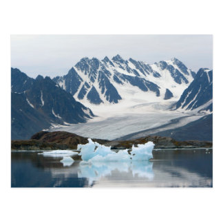 Noruega, glaciar del retroceso e iceberg tarjetas postales