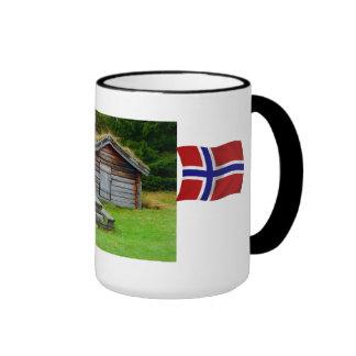 Noruega, goza de los altos pastos taza de dos colores