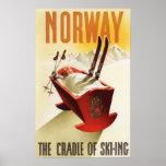 Noruega - la cuna del esquí posters
