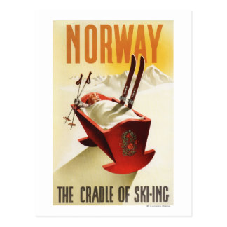Noruega - la cuna del esquí tarjeta postal