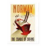 Noruega - la cuna del esquí tarjetas postales