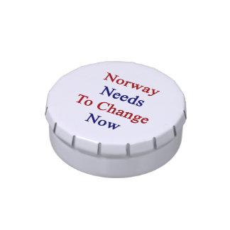Noruega necesita ahora cambiar frascos de caramelos