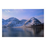 Noruega, nieve en las montañas impresiones