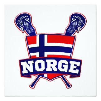Noruega Norsk LaCrosse Invitación 13,3 Cm X 13,3cm