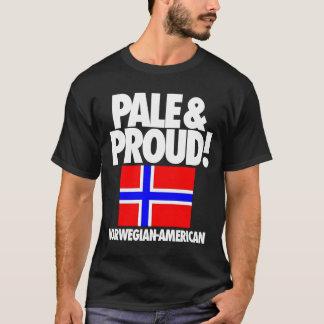 Noruega pálida y orgullosa Noruego-Americana Playera
