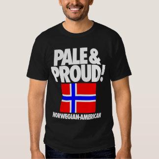 Noruega pálida y orgullosa Noruego-Americana Remera