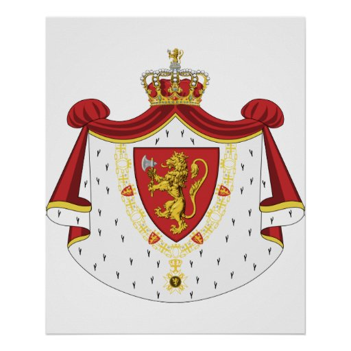 Noruega real, Dinamarca Impresiones