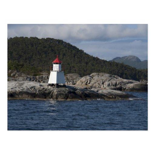 Noruega, Stavanger. Opiniónes a lo largo de Lysefj Tarjetas Postales
