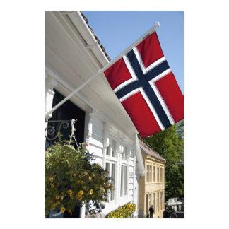 Noruega, Stavanger. Vistas céntricas históricas Cojinete
