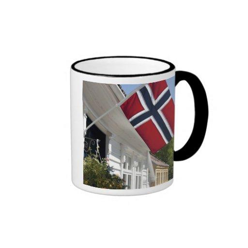 Noruega, Stavanger. Vistas céntricas históricas Taza A Dos Colores