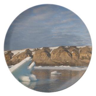 Noruega, Svalbard, isla de Spitsbergen, fijando Plato De Cena