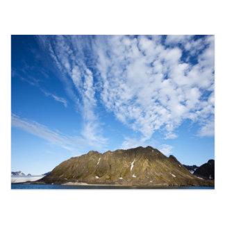 Noruega, Svalbard, nubes sobre los acantilados esc Tarjetas Postales