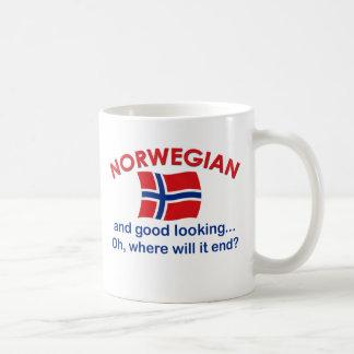 Noruego apuesto tazas