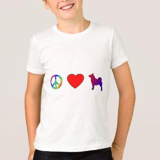 Noruego Buhunds del amor de la paz Playera