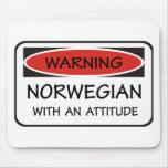 Noruego de la actitud tapete de ratones