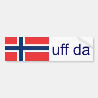 Noruego divertido de Uff DA Noruega Pegatina Para Auto