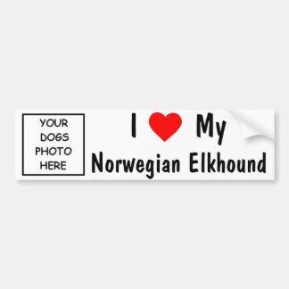 Noruego Elkhound Etiqueta De Parachoque
