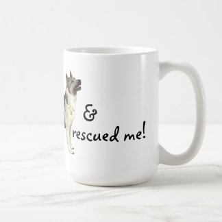 Noruego Elkhound del rescate Taza