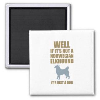Noruego Elkhound Iman Para Frigorífico