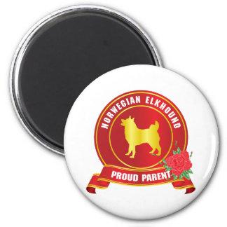 Noruego Elkhound Imán Para Frigorifico