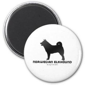 Noruego Elkhound Iman De Frigorífico