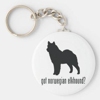 Noruego Elkhound Llavero Redondo Tipo Pin