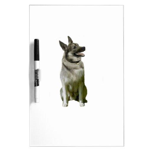 Noruego Elkhound Tableros Blancos