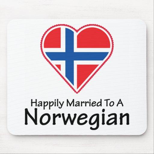 Noruego feliz casado alfombrilla de ratones