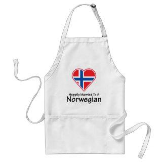 Noruego feliz casado delantal