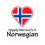 Noruego feliz casado postal