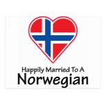 Noruego feliz casado tarjeta postal