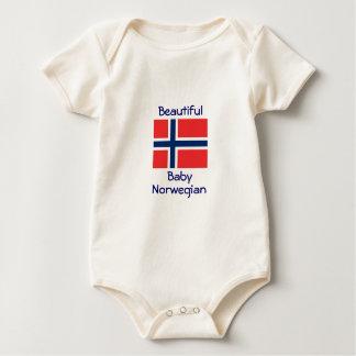 Noruego hermoso del bebé traje de bebé