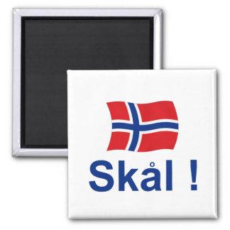 ¡Noruego Skal! (Alegrías) Imán Cuadrado