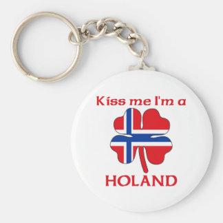 Noruegos personalizada me besan que soy Holand Llaveros
