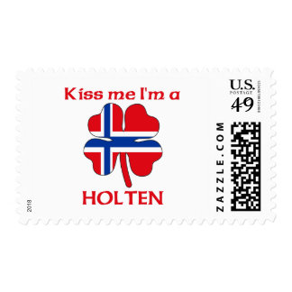 Noruegos personalizada me besan que soy Holten Timbre Postal