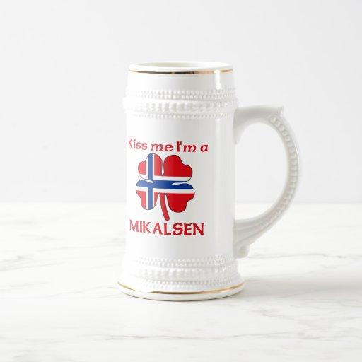 Noruegos personalizada me besan que soy Mikalsen Tazas De Café