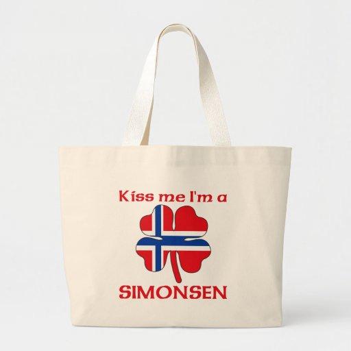 Noruegos personalizada me besan que soy Simonsen Bolsa