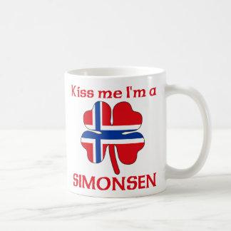 Noruegos personalizada me besan que soy Simonsen Taza Básica Blanca