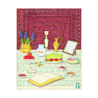Noruz Haft Sin Table Canvas Print
