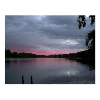 Norvell Lake at dusk Postcard